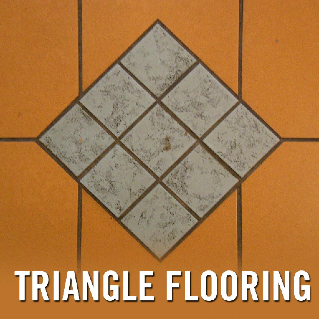 Triangle floor tiles
