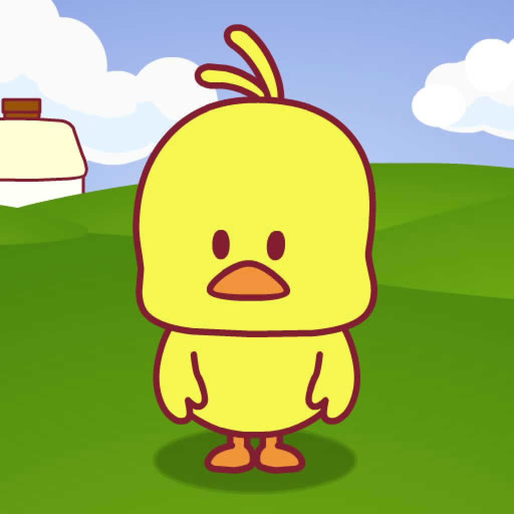卡通可爱小鸭简笔画